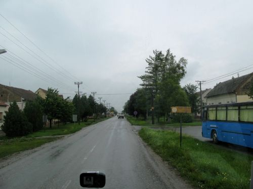 "Picture 3 – The ramrod-straight ""Hauptgasse""  at the village entrance in Jarek from Novi Sad in the direction of Temerin."